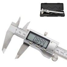 Metal 150mm Paslanmaz Çelik Elektronik Dijital Sürmeli Kaliper Mikrometre Mikrometre Ölçme Ölçer 6 Inç Elektronik Kumpas