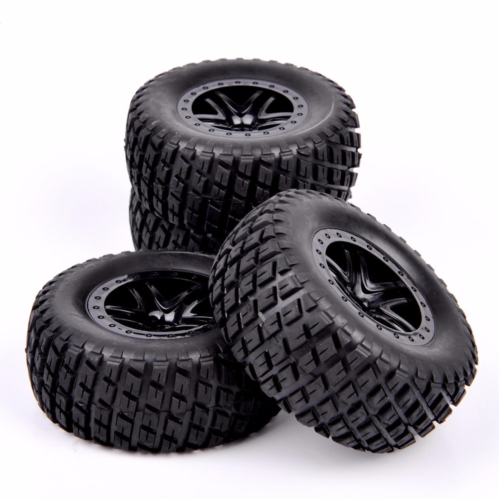 где купить 1/10 Scale Short Course Truck Tires And Wheel Rim  902 29001+29504 For TRAXXAS SLASH HPI RC Truck Car Model Toys  Accessories дешево