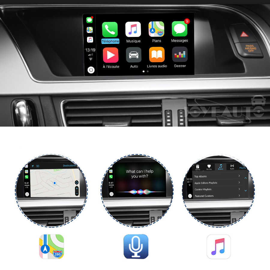 Car multimedia Aftermarket OEM Apple Carplay Android Auto A5 MMI 3G 3G+  Smart Apple Car Play Box IOS Airplay Upgrade