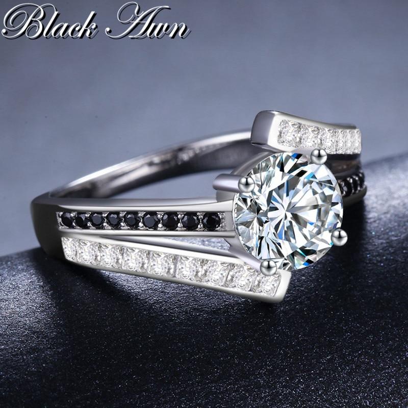 BLACK AWN 3.9g Classic 925 Sterling Silver Smycken Row Svart & Vitt - Fina smycken - Foto 5