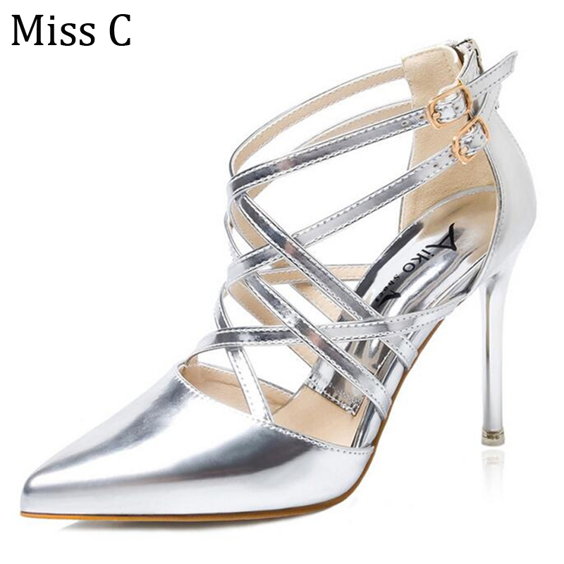 Strappy Silver High Heels Promotion-Shop for Promotional Strappy ...