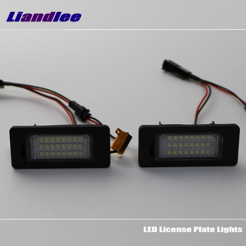 Liandlee For Volkswagen VW Golf Wagon Golf Plus Golf VI Variant Car License Plate Lights Number Frame Light LED Lamp in Signal Lamp from Automobiles Motorcycles