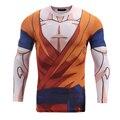 Classic Anime Dragon Ball Z Sudadera de Manga Larga prendas de Vestir Exteriores de Los Hombres Hipster 3D Medias Super Saiyan Goku Cuello Redondo de manga Larga