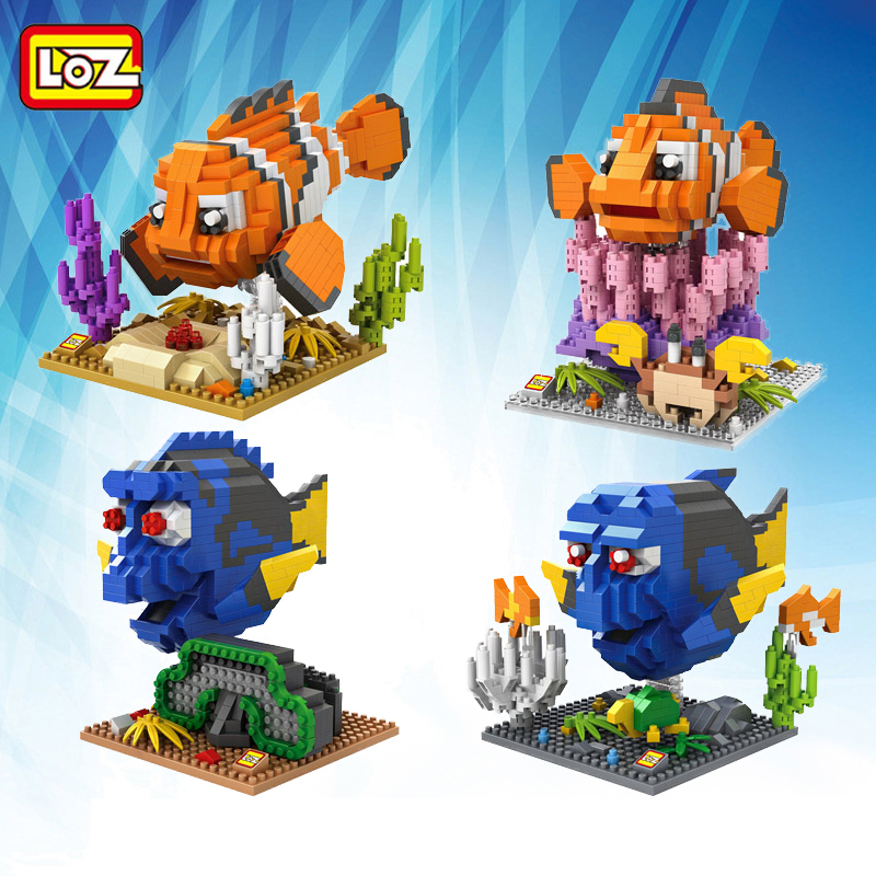 2016 new loz finding nemo building blocks diy nemo marlin for Finding a builder