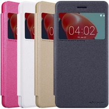 Nokia 6 крышка случая Nillkin искра кожаный чехол для nokia 6 с Status view windows