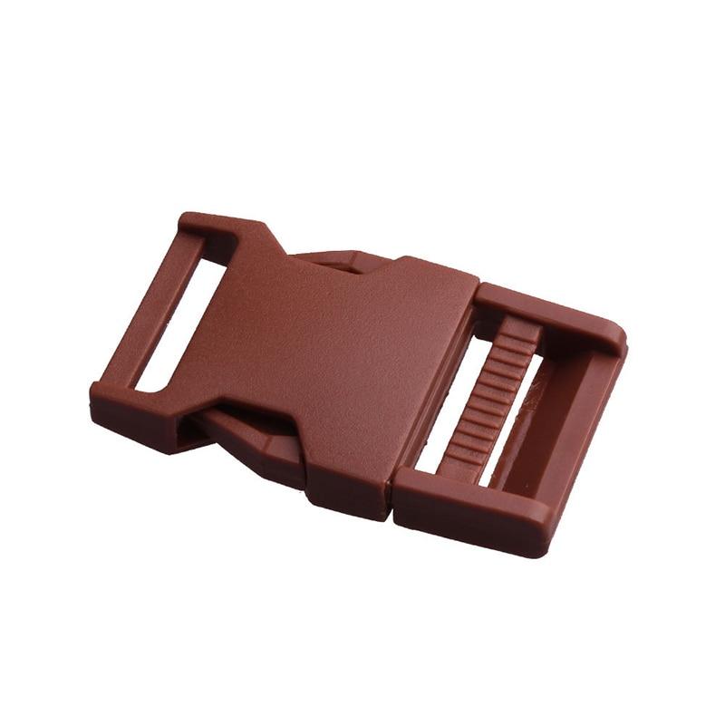 Лямки швейные инструменты собачьи ремни пряжки двойные регулируемые Крючки для рюкзака Высокое качество 1 шт. 25 мм популярная пластиковая пряжка безопасности - Цвет: Coffee