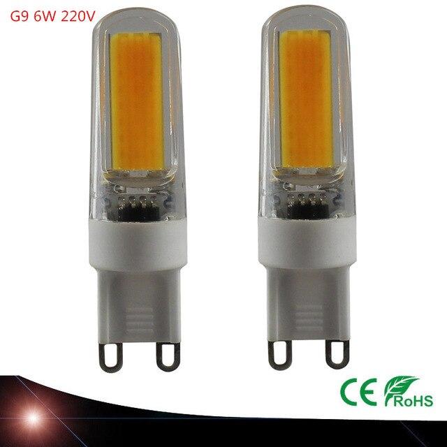 Led-lampe G9 220 V COB 6 Watt Mini LED G9-lampe Lampe Keramik Kristall Hoge Power Hohe Transmissie 360 grad