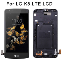 New 5.0'' LCD For LG K8 LTE K350N K350E K350DS LCD Display with Touch Screen Digitizer Assembly original lcd for lg k8 k350n k350e k350ds lcd display complete touch screen digitizer assembly black white free shipping tools