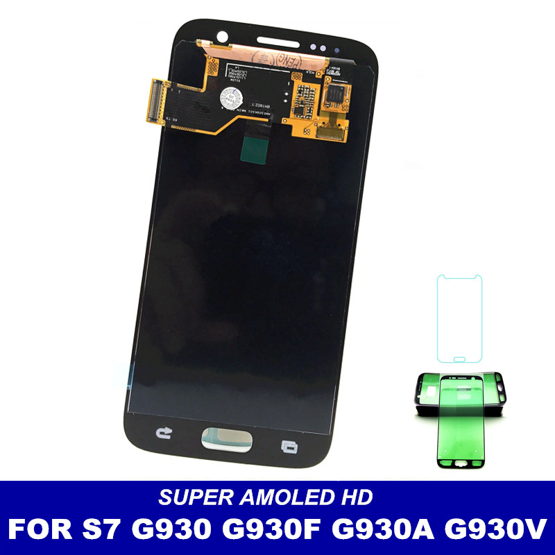 Super AMOLED Phone LCD Display For Samsung Galaxy S7 G930 G930F G930A G930V G930P G930T Mobiles Touch Screen Digitizer Assembly