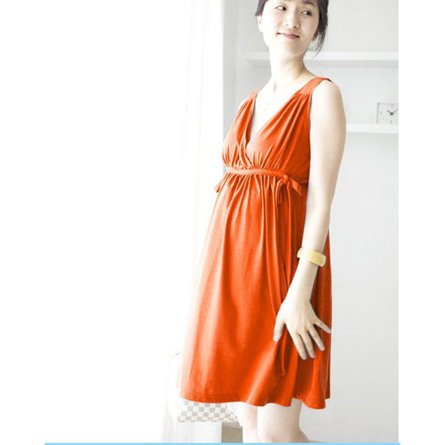 5268e81305b59 Free Size Maternity for Summer Lactating Mothers Clothes Pregnant Women  Dress Maternity Gown Photography Dresses YFQ014