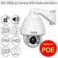 1080 P CCTV IP PTZ cámara domo de velocidad 25fps 8 Matriz IR día Noche Vison Zoom 30X Lente CCTV de Vigilancia de Seguridad de Red de Vídeo PTZ