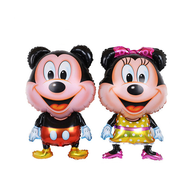 1PC 4880cm Chubby Cheeks Mickey Minnie Foil Balloons Baby Kids Toys