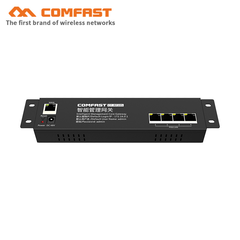 Comfast CF-RF105 100M Smart Core Gateway AC management Routing 802.3 ethernet Mini 4 Port POE Supply AC management wi-fi Router(China)