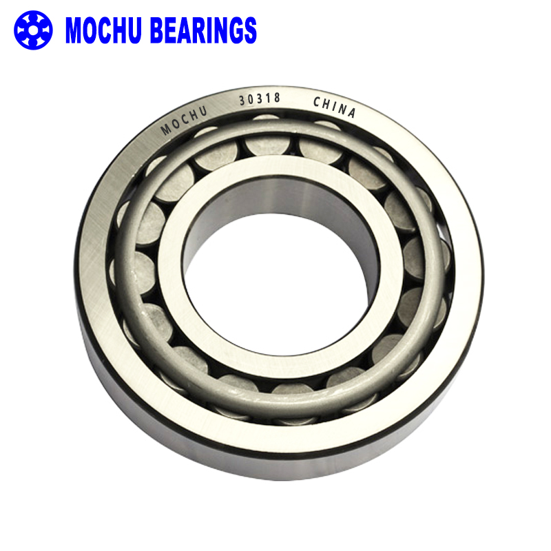 ФОТО 1pcs Bearing 30318 90x190x46.5 30318-A 30318J2 7318E Cone + Cup MOCHU High Quality Single Row Tapered Roller Bearings