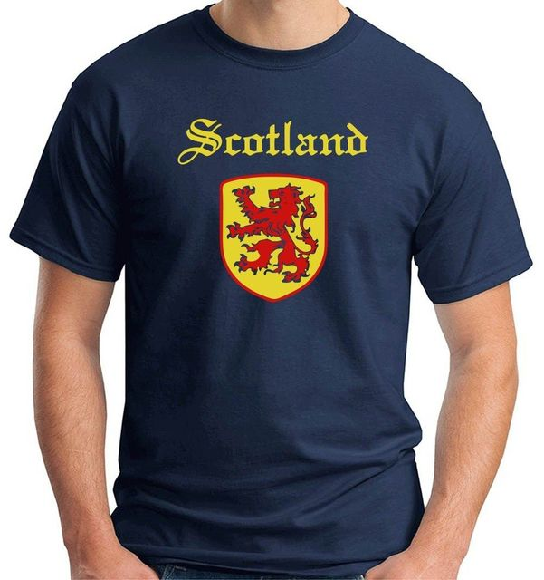 868ce0324e 2019 New T Shirts Unisex Funny Tops Tee t-shirts scotland Rugbyer  Championships Lion Rampant of Scotland Flag T shirt