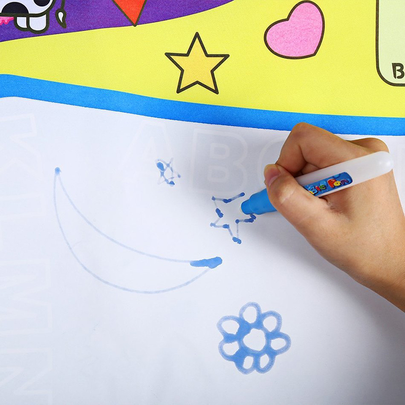80X60cm Intelligence Toys Kids Water Drawing Painting Writing Toys Doodle Aquadoodle Mat Magic Drawing Board+2 Water Drawing Pen