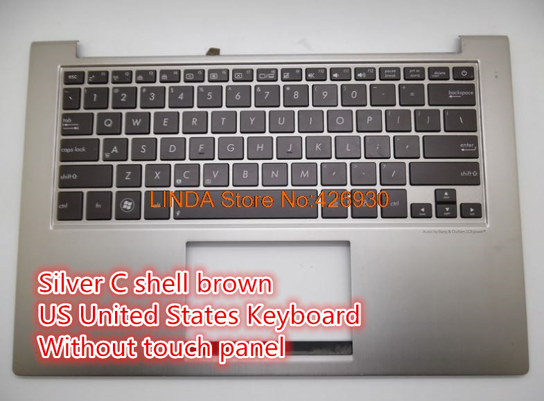 Laptop Palmrest&Keyboard For ASUS UX32 UX32A UX32E UX32V BX32 UX32VD Silver C shell Czech/Slovakian/Russian/US/HB/Japan keyboard dc5850 ms 7500 sff mt desktop motherboard 461537 001 450725 001 100% tested good quality