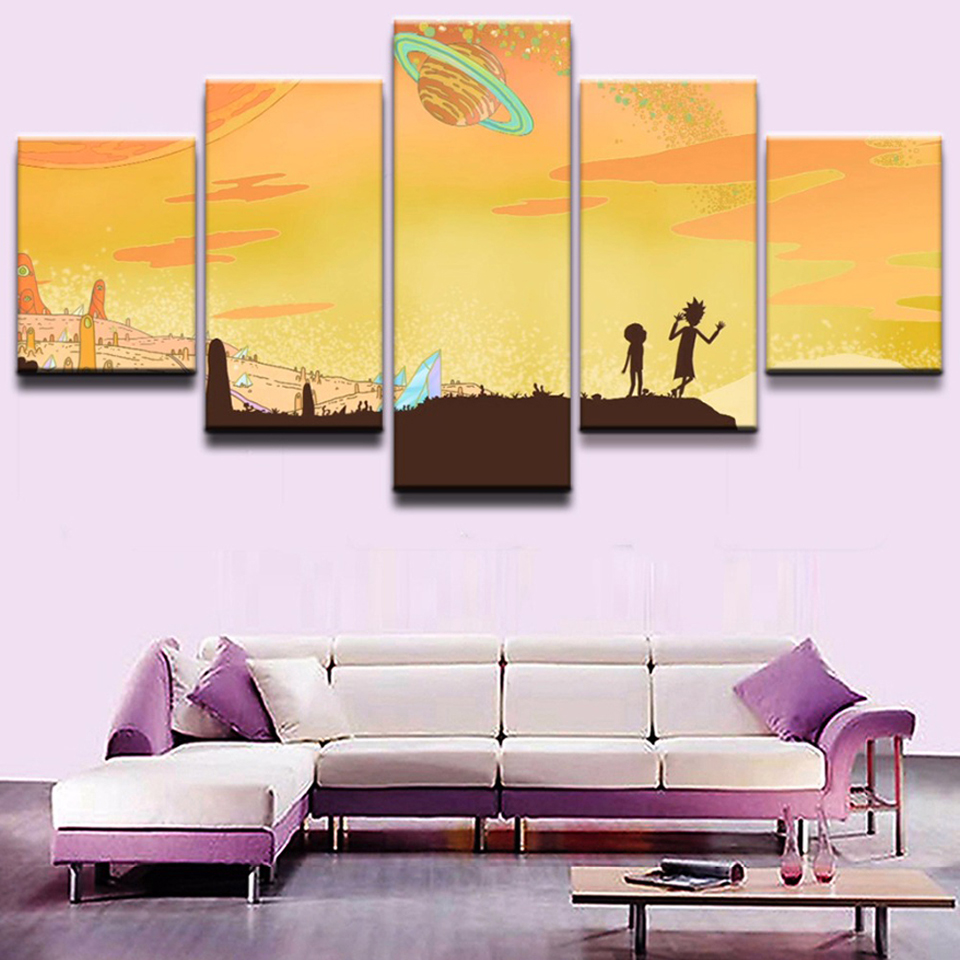 Rick and morty Merchandise Wall Art Canvas | Rick and Morty Products