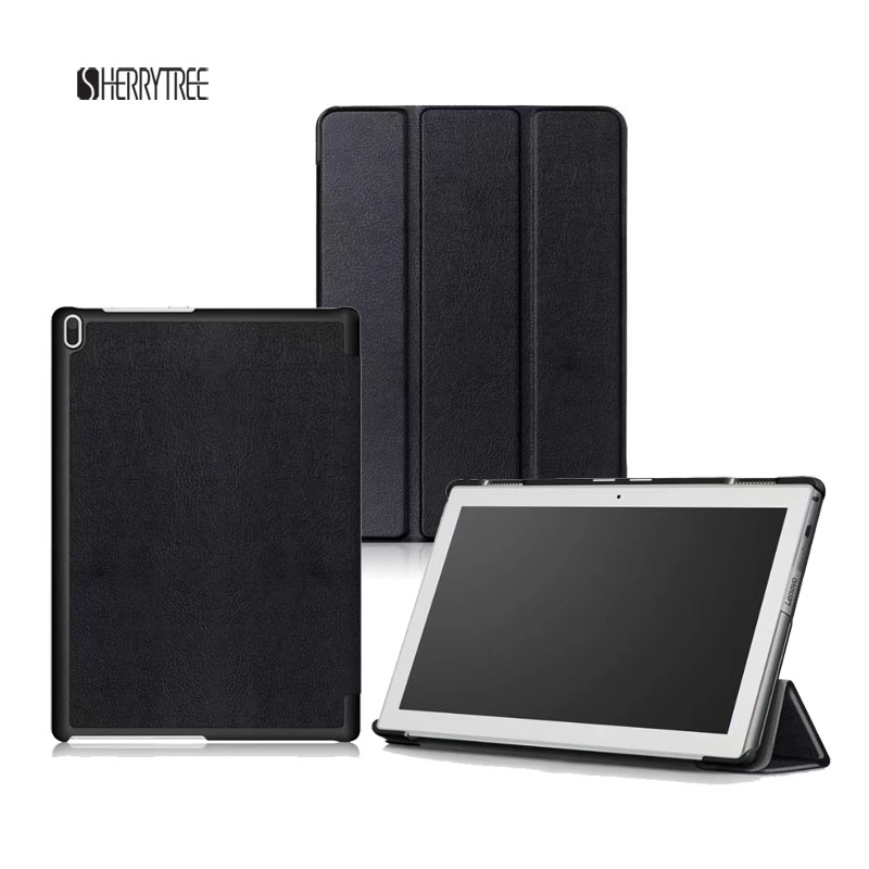 Slim Voltage Stand PU Cover For Lenovo Tab 4 10 TB X304F N Folio Folding Protective