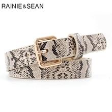 RAINIE SEAN Thin Vintage Women Belt Spring Summer Pu Leather Pin Buckle Female Waist Belts For Trousers