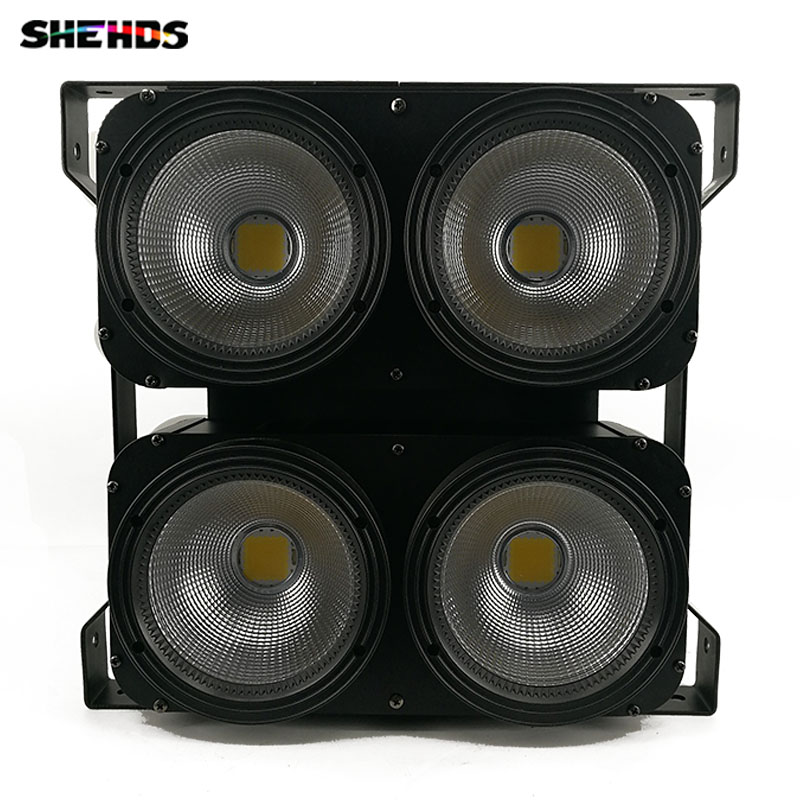 New Professional Combination 4x100W LED blinder light 4eyes COB Cool/Warm White LED Wash Light High power DMX Stage Lighting 24 hours cctv security warning board transparent black multi colored