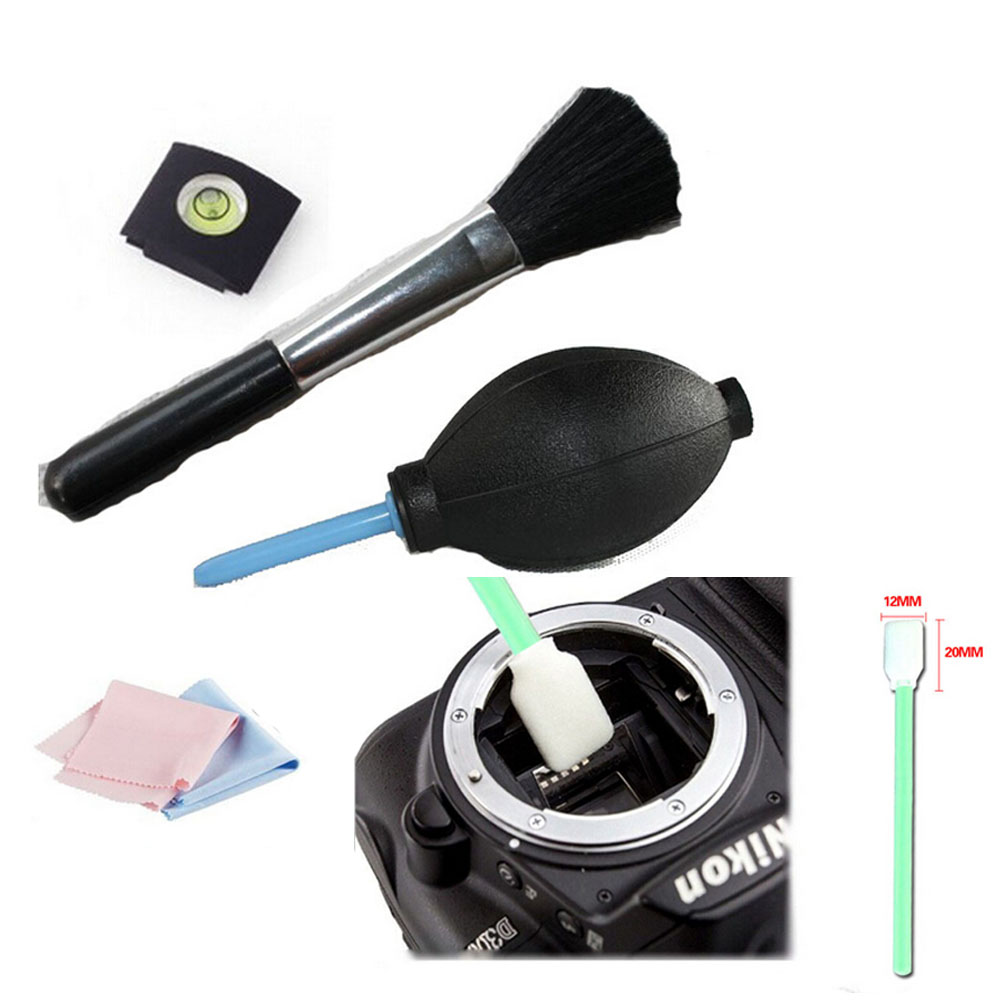 hot! 5 In 1 spirit hot shoe Lens brush Cleaning Kit Camera Pen Cleaning Pen/Cloth Lens blower for canon nikon sony pentax micnova mq mb100 static electricity sensor 4 led light camera cleaning brush for canon nikon sony pentax slr lens cleaning pen