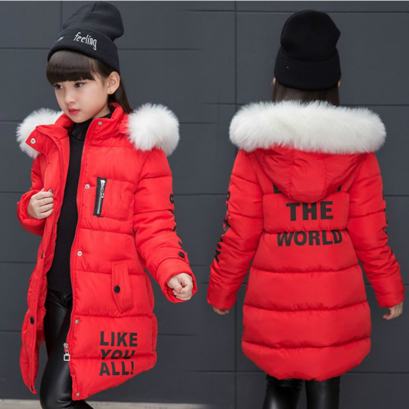 Girl's New Year Costume Children Winter Cotton Warm Jacket Cotton-padded Jacket Cotton-padded Clothes Winter Jacket Winter Coat deha