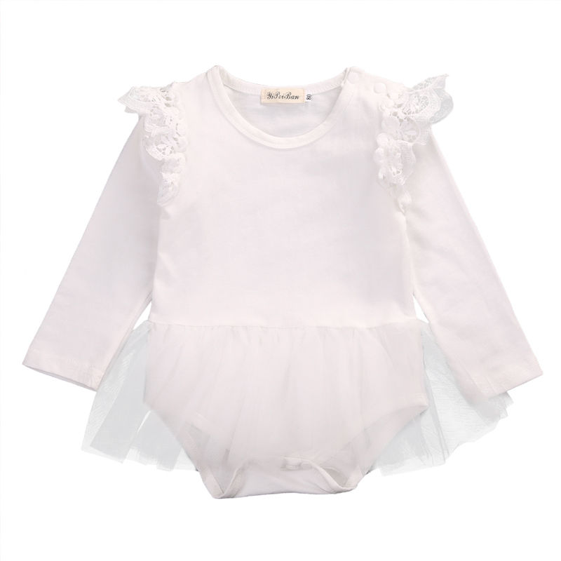 Cute Black/Pink/White Lace Newborn Infant Baby Girl Romper ...