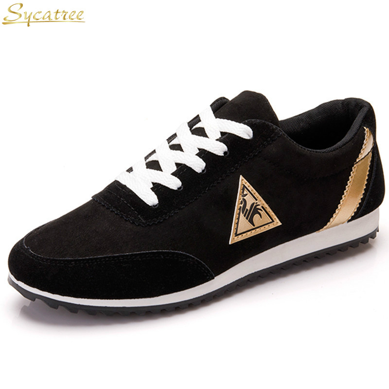 Running Shoes Sycatee French Brand Cock Spider Running Shoes For Men Canvas Shoes Breathable Leisure Flats Sport Suede Shoes Chaussure Homme