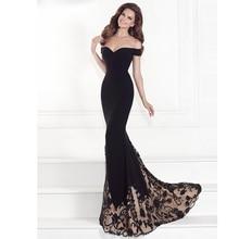 Luxusní černé dámské večerní šaty s krajkou na sukni