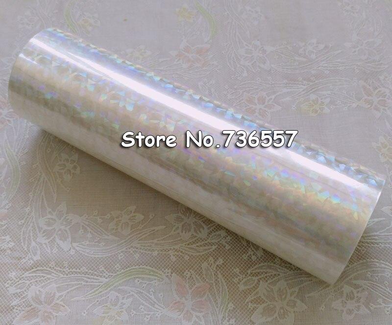 Holographic foil transparent foil Y04 hot stamping for paper or plastic 16cm x120m Shattered Glass