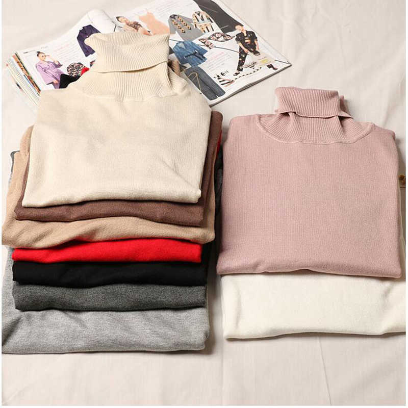 Shikoroleva Sweater Women Turtle Neck Casual Slim Knitted Pullover Sweaters Pull Homme XL L M S Female Pink Brown Red Beige