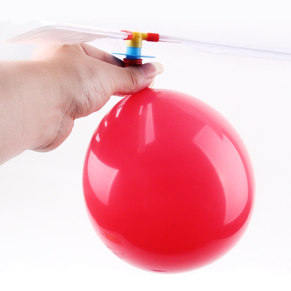 1 Set Classic Balloon Airplane Helicopter for Kids Children Flying Toy Gift Outdoors Toys Free Shipping image