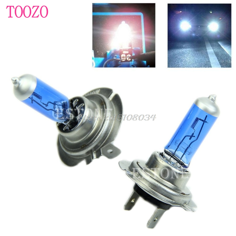 2Pcs DC 12V 100W H7 6000K Xenon Gas Halogen Headlight White Light Lamp Bulbs S08 Drop ship