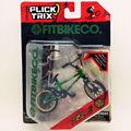 Lo nuevo Finger Flick Trix bici de Bmx VERDE Diecast Aleación De Níquel Stents Profesional Dedo de La Bicicleta de La Novedad Mini Juguetes