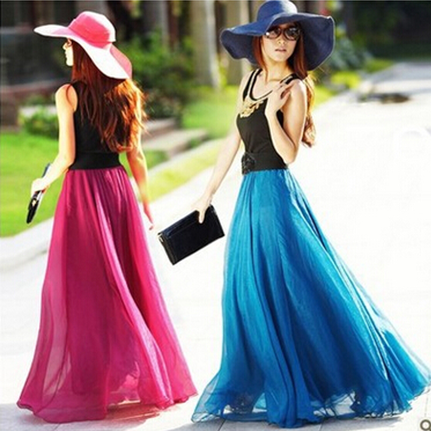 Womens Long Skirts - Skirts