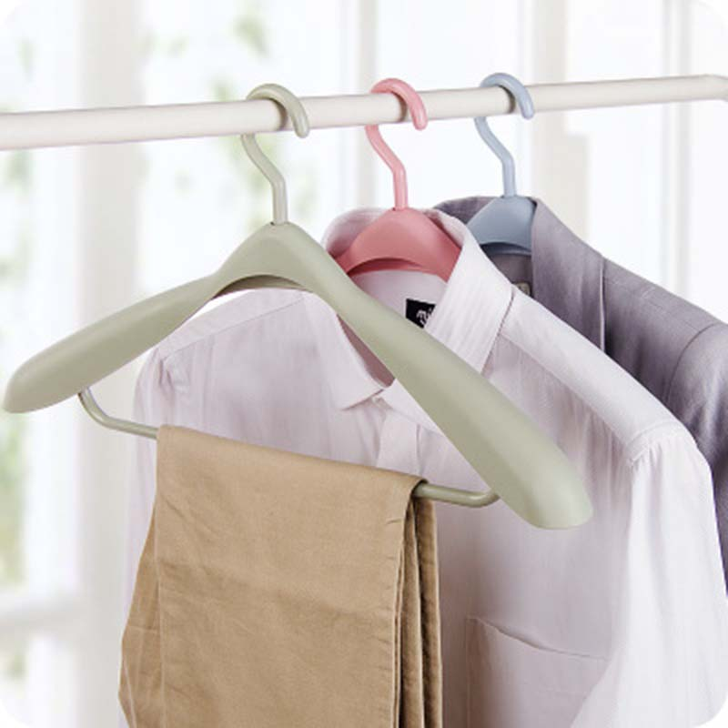 Doreen Box Multifunctional 3 Colors Clothes Hangers Plastic Outdoor Drying Rack Clothing Coat Closet Organizer 1PC