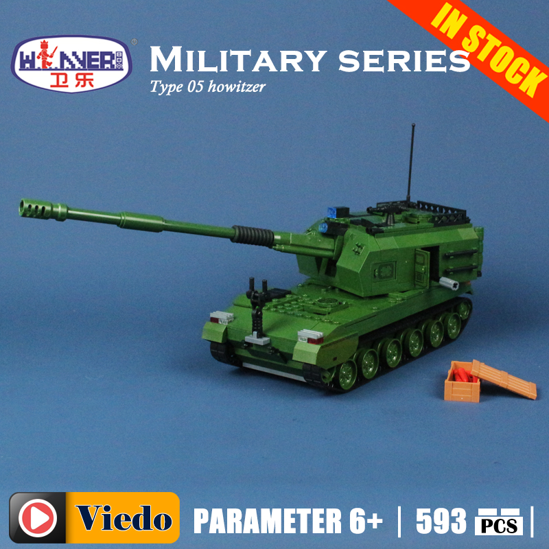 Winner 8011 Type 05 howitzer tank Model Building Toys hobbies Compatible With lego Blocks Educational Bricks for kids