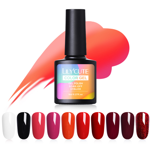 LILYCUTE 175 Colors Nail Polish UV Gel