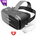 Vr box Sansui 3d glasses/virtual reality goggles google cardboard headset gear vr + Smart Bluetooth Remote Control Gamepad