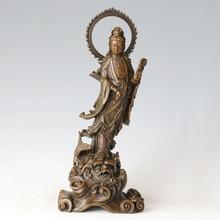 ATLIE BRONZES Avalokitesva buddha statue Guanyin figurines goddess of mercy Chinese Buddha sculpture Lucky Home decor