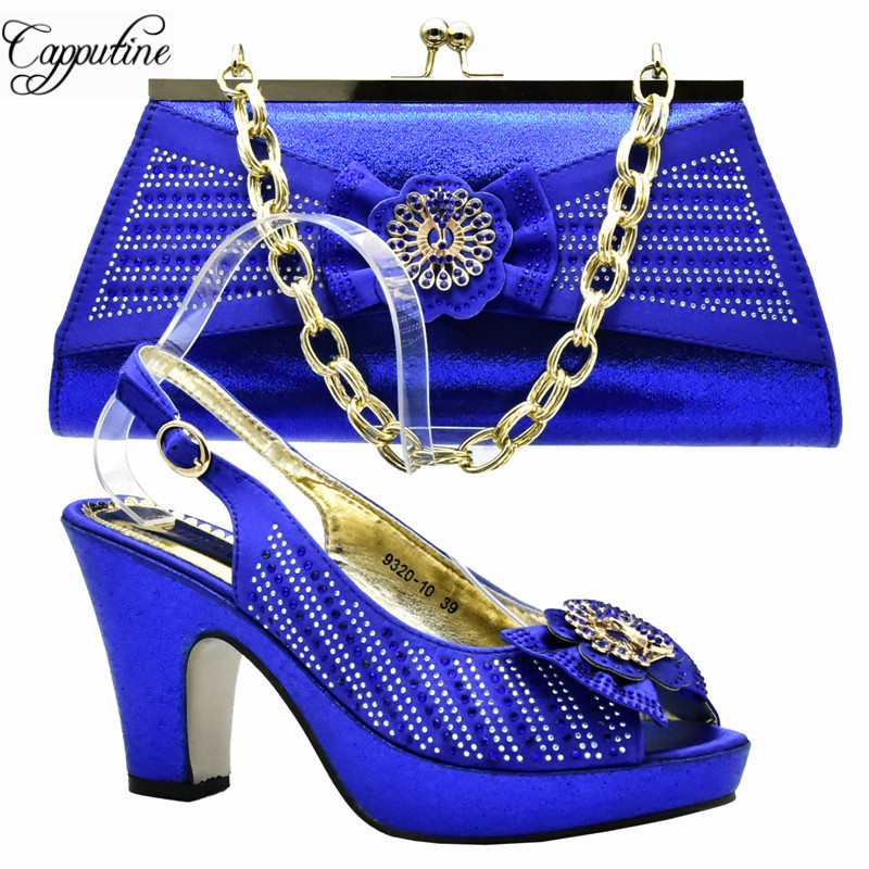 Capputine Nice Italian Matching Shoes And Bag Set African Style Ladies Peach Shoes And Bag To Match For Wedding Dress DF-011 capputine african shoes and bag matching set with crystal hot selling women italian shoes and bag set for wedding dress bl735c