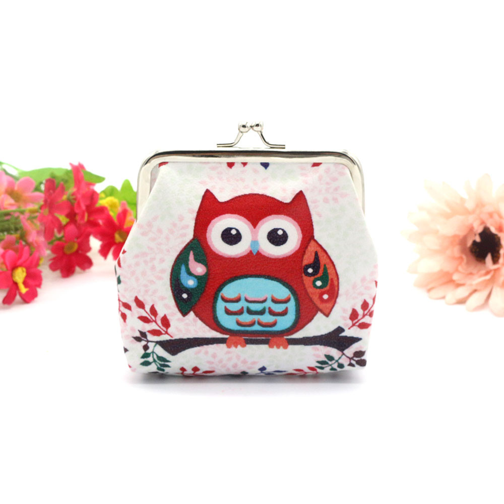 2017 Hot Sale Coin Purse Women Printing Owl Elephant Wallet Card Holder Purses Bag Clutch Handbag bolsos femenina hot sale owl pattern wallet women zipper coin purse long wallets credit card holder money cash bag ladies purses