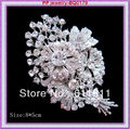1 Piece Retail!Large Size Wedding Bridal Rhinestone Crystal Brooch For Women