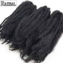 Razeal 18Inch Synthetic Braiding Hair Afro Marley Braid Hair Natural Black Crochet Hair Extension 60grms High Temperature