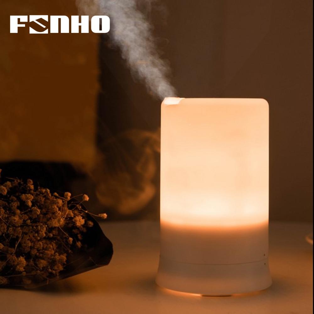FUNHO aire humidificador ultrasónico USB de carga de 5 colores Led de luz de la noche de aceite esencial de aromaterapia difusor de Aroma para el hogar 213