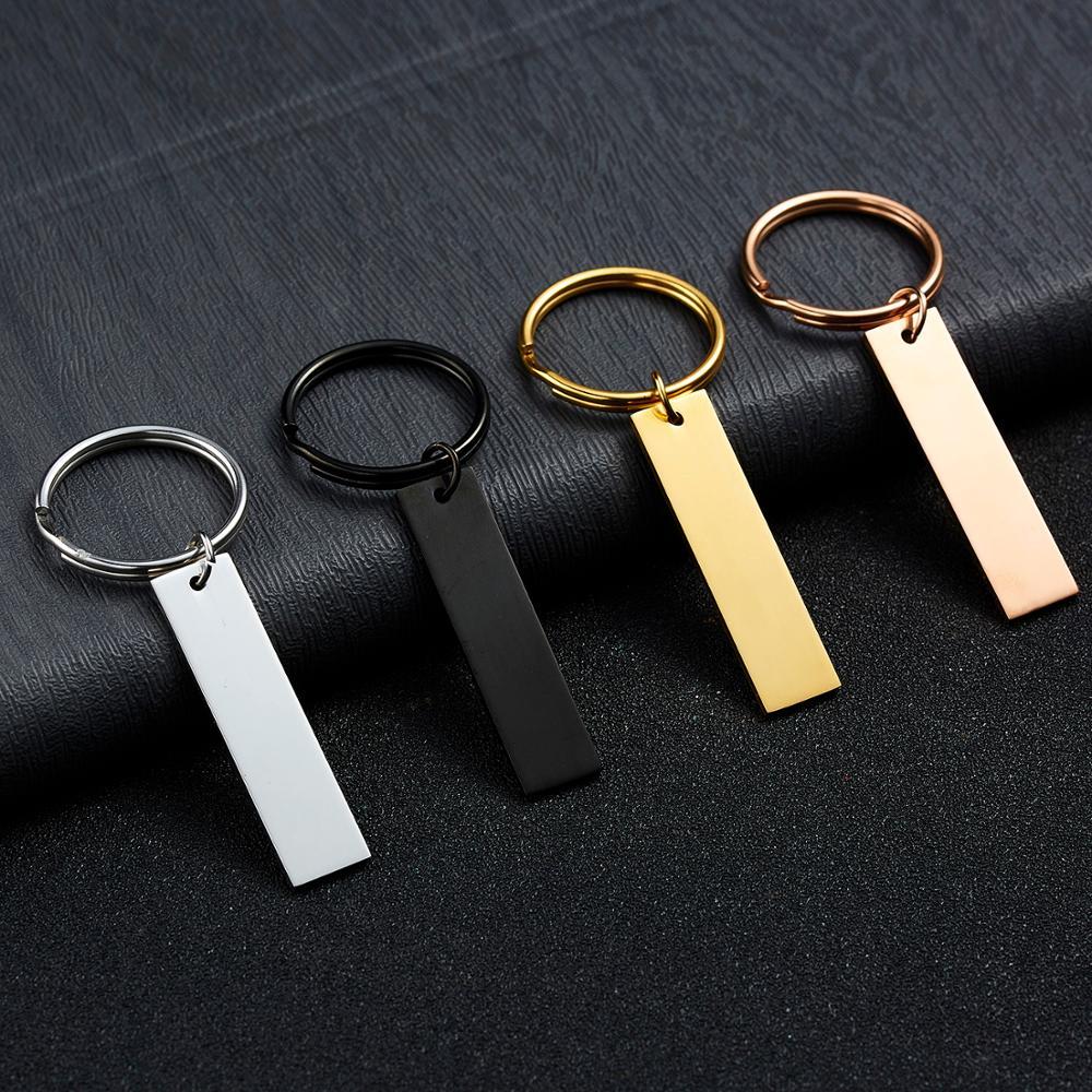 Angepasst Gravierten Schlüsselbund Personalisierte Einzigartige Geschenk Anti-verloren Schlüsselring Private Custom Graviert Ihr Name Texte Unterschrift etc