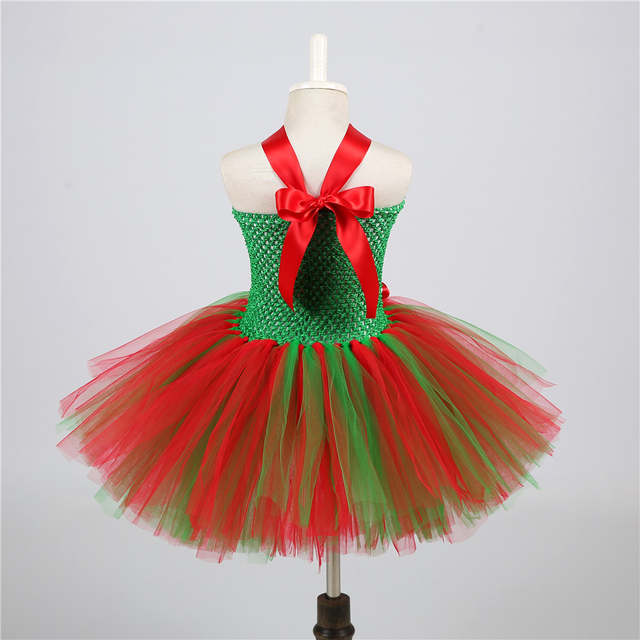 4d555643fc3 Children Girls Christmas Dress Kids Tulle New Year Clothes Fancy Princess  Ball Gown Baby Girl Xmas Party Tutu Dress Costumes