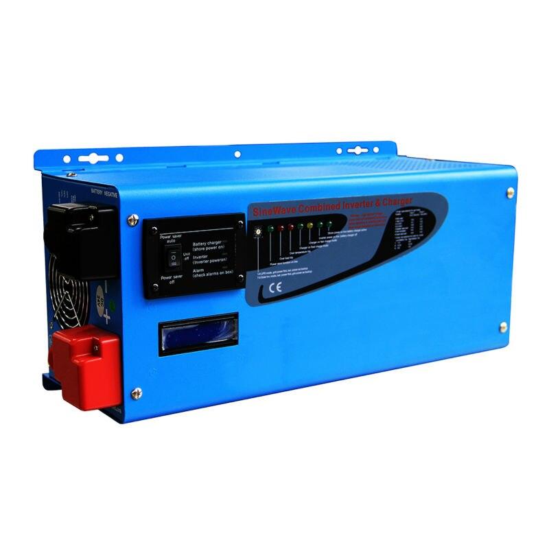 цена на 24V 220VAC/230VAC 3KW LCD Power Star Inverter Pure Sine Wave 3000W Toroidal Transformer Off Grid Solar Inverter Built in Charger
