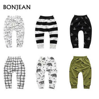 cc9f79584 Primavera bebé niños pantalones Harem pantalones para niñas caliente patrón  geométrico impresión pantalones recién nacido Niño moda variedad de  pantalones